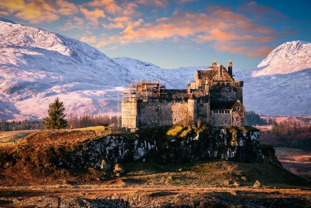Duart Castle near Craignure on the Isle of Mull