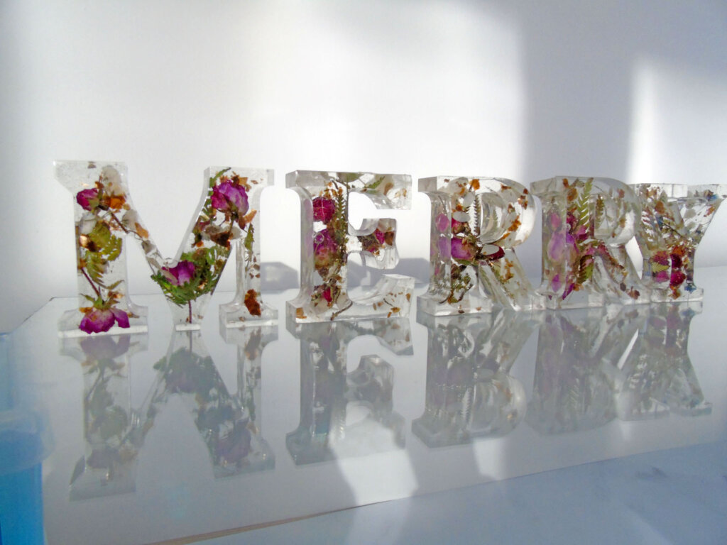 Resin Letters from Scottish Island Art - The Mull and Iona Shop